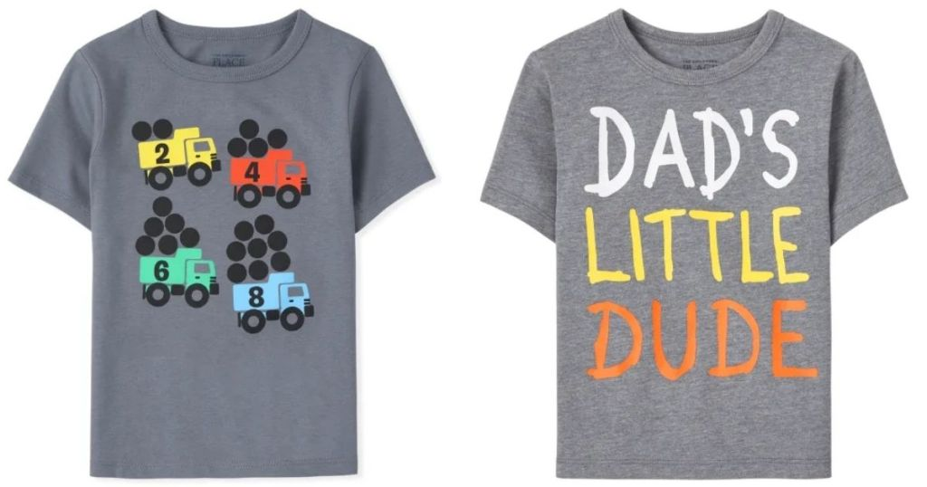 2 The Children's Place Boys Graphic Tees