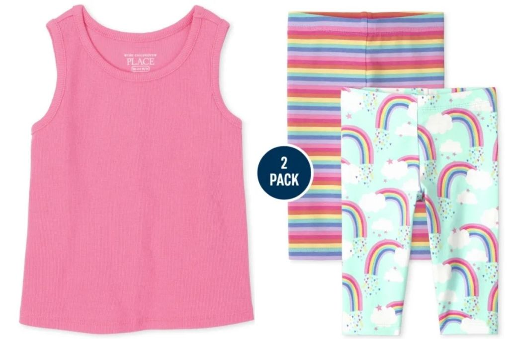 The Children's Place Girls Tank and 2-pack leggings