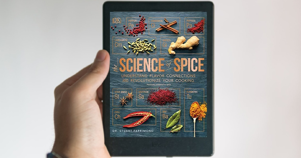 The Science of Spice ebook on tablet