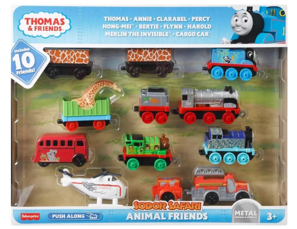 large set of train sets