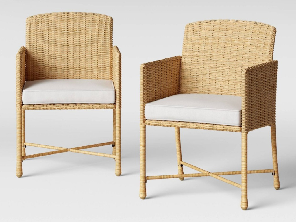Threshold Eliot 2pk Closed Weave Patio Dining Chair