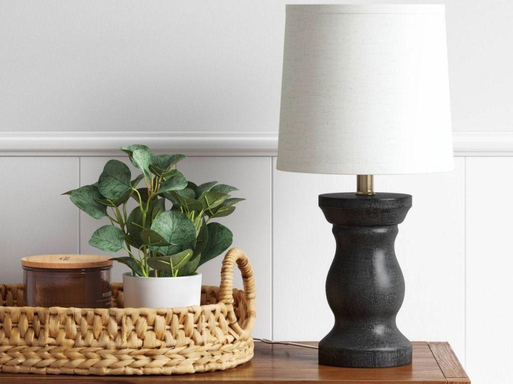 Threshold Wood Lamp on table