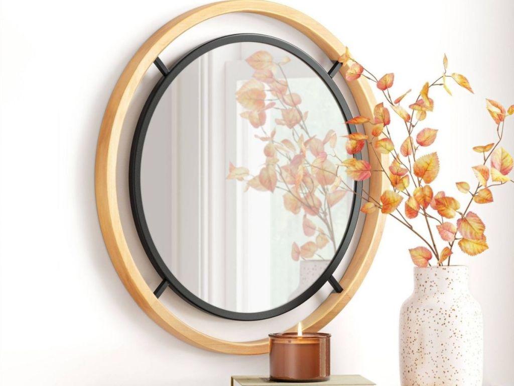 Threshold Wooden Mirror