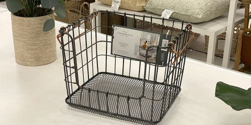 These Threshold Stackable Wire Baskets Are Stylish, Versatile & Only $17 at Target
