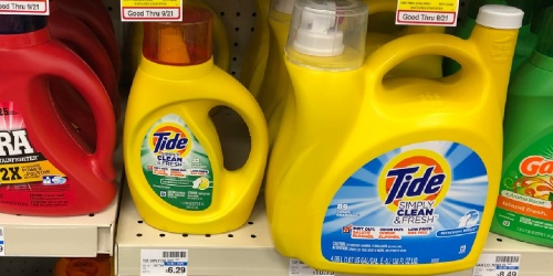 Tide Liquid Laundry Detergent 128oz Bottle Only $6 on OfficeDepot.com (Regularly $13)