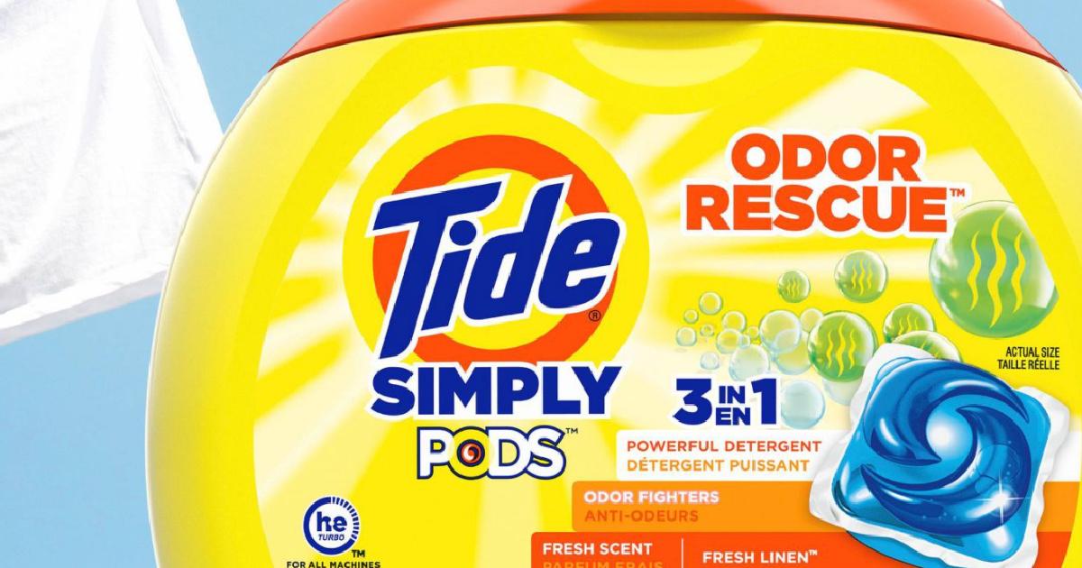 tide simply pods odor rescue pods