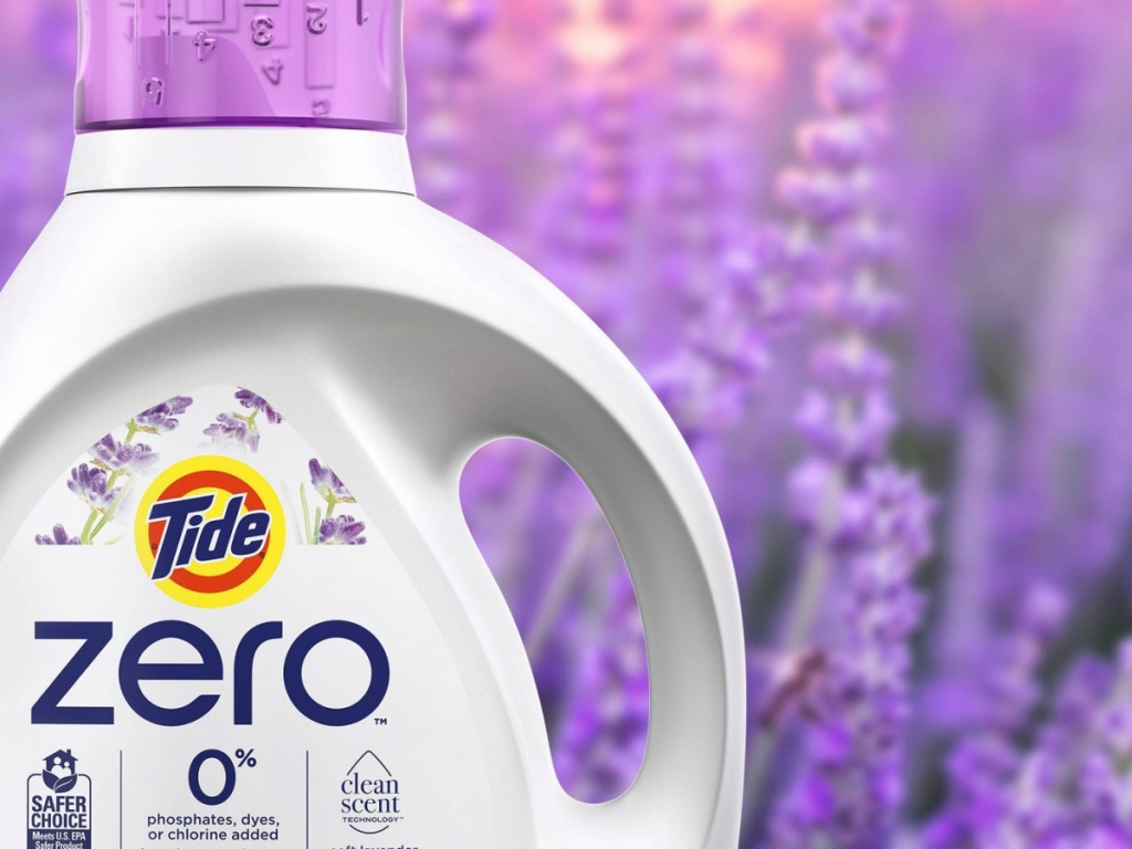 lavender scented laundry detergent bottle