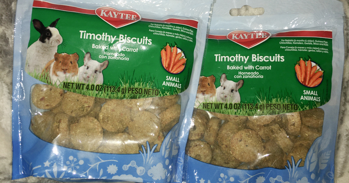 Two bags of timothy biscuits
