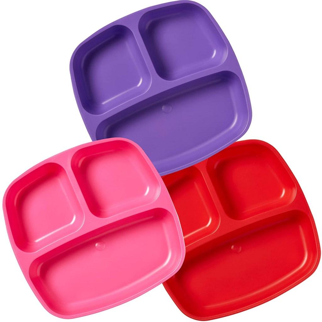 three kids divided plates