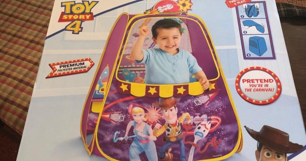 kids' pop-up tent in box