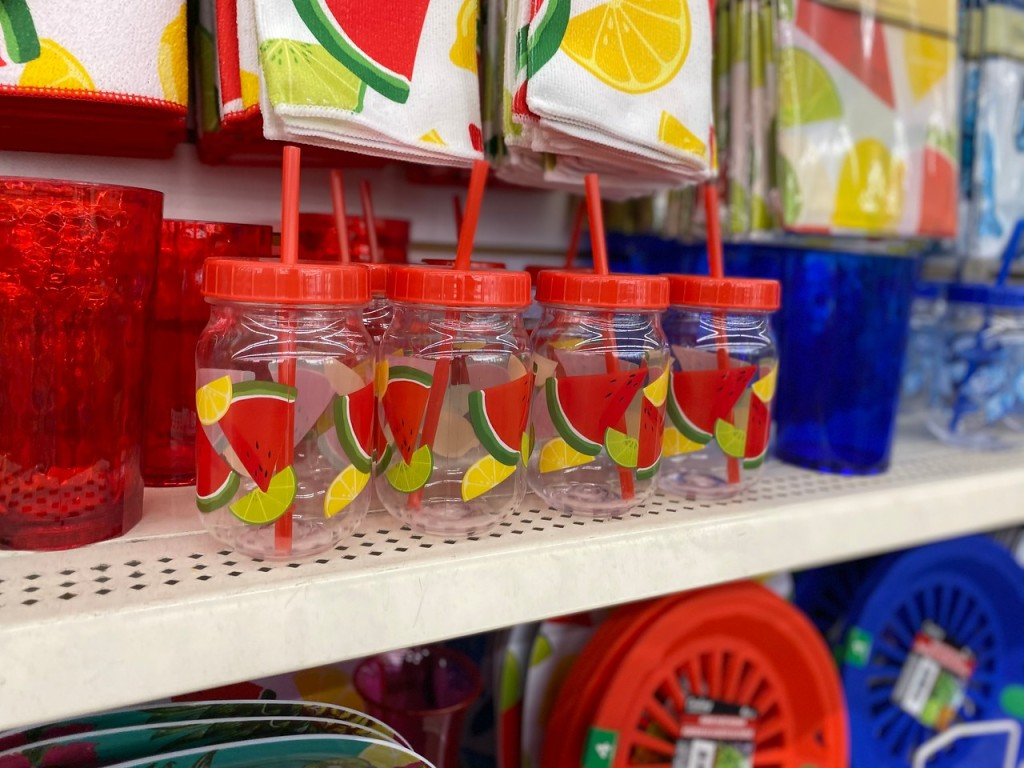 Tropical Party Tumblers on store shelf