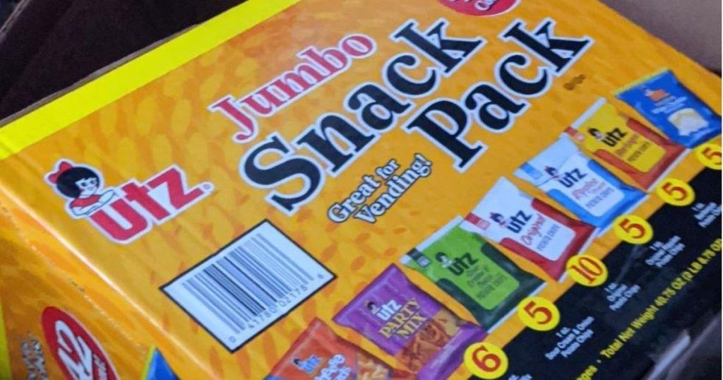 UTZ Snack Pack box