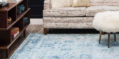 Stain-Resistant 2′ x 3′ Rugs from $13 on Amazon