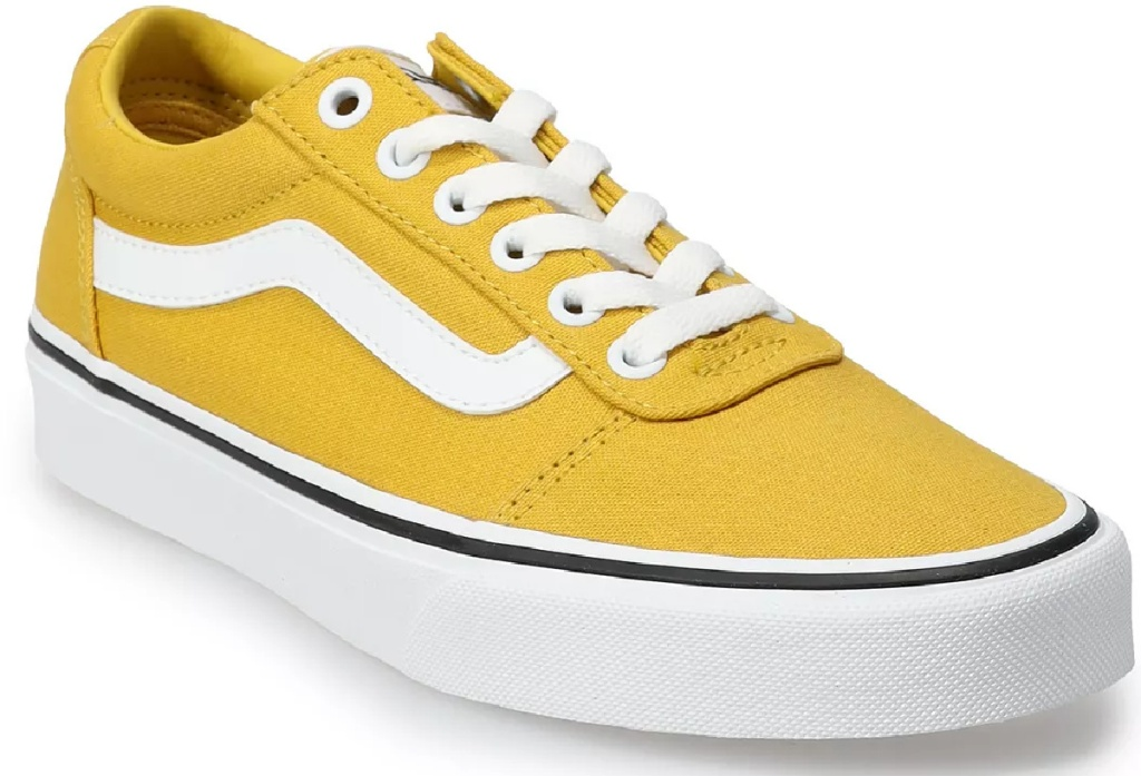 women's skater shoes in yello