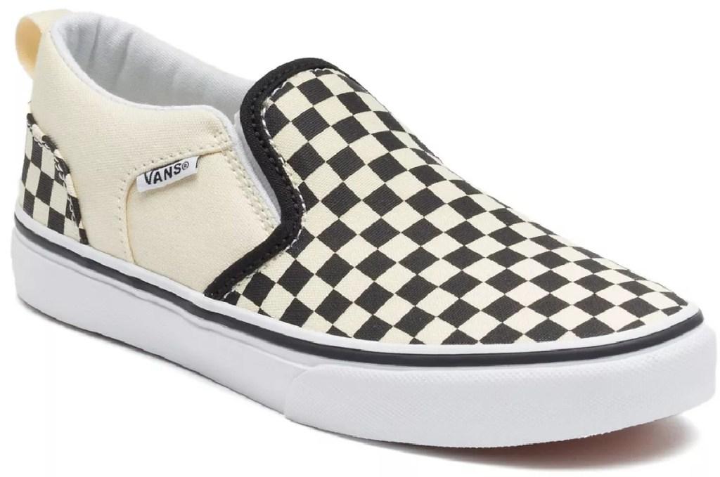 kids checkered skater shoes