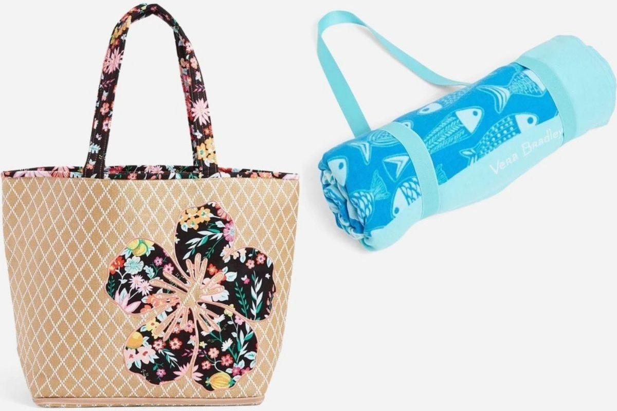 Vera Bradley Beach Bag and Beach Blanket