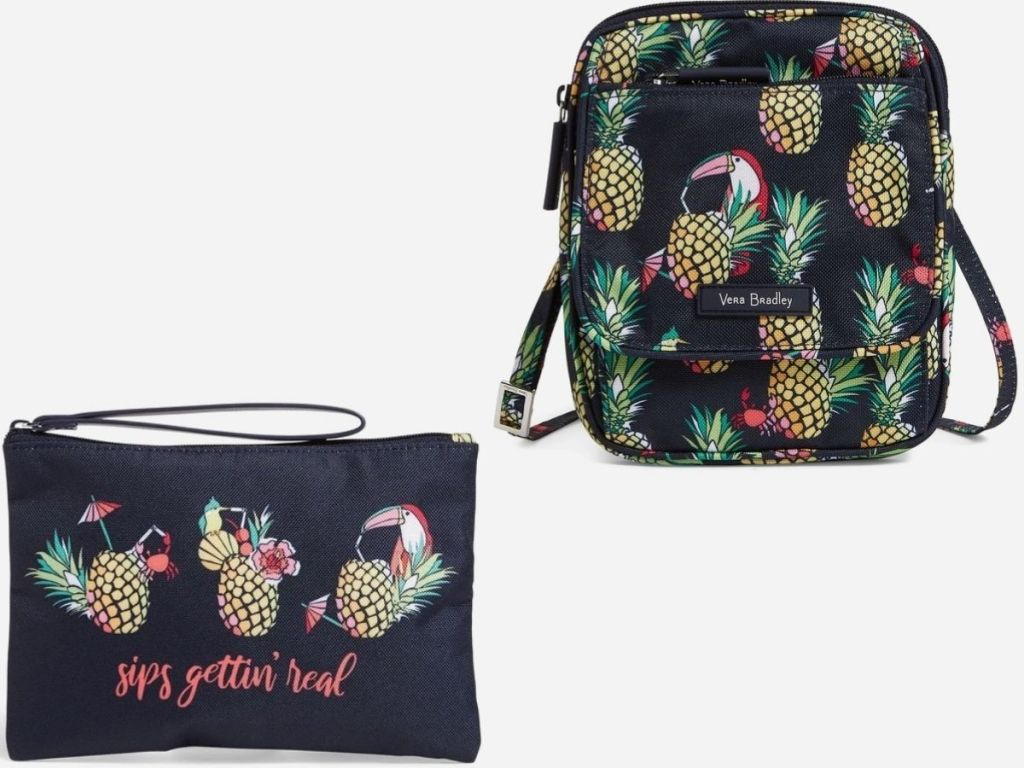 Vera Bradley Wristlet and Mini Hipster bag