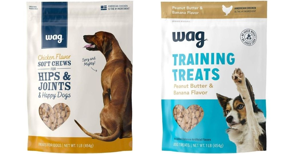 two bags of dog treats