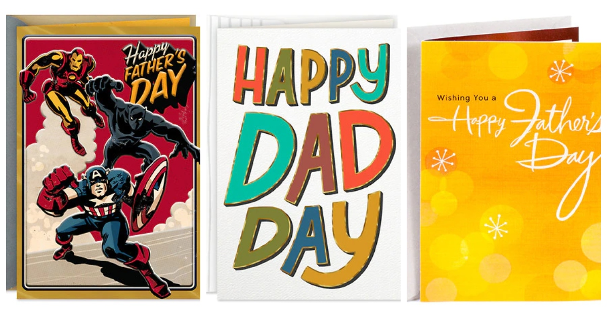 Three different Father's Day Cards