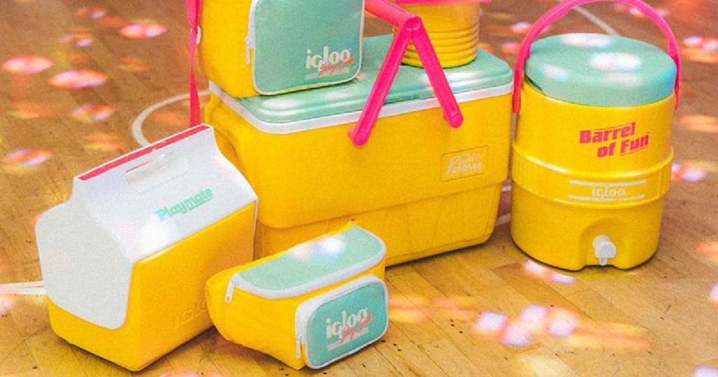 Yellow Retro Igloo Coolers