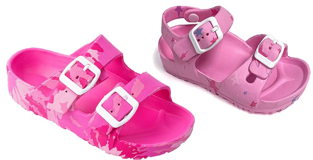 two pink girls sandals