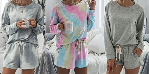Women's Matching Short and Tee Lounge Sets Only $10.99 on Zulily.com (Regularly $55)
