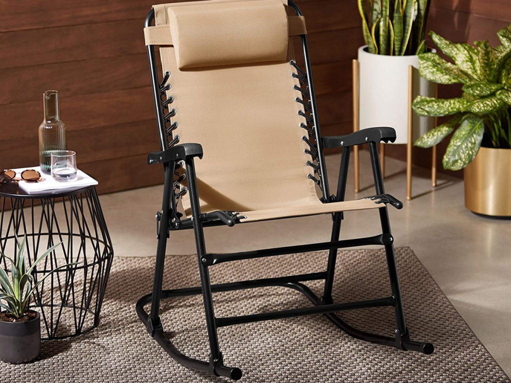 beige rocking chair
