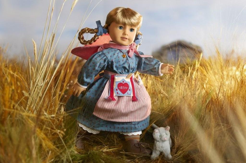 American Girl doll in cornfield