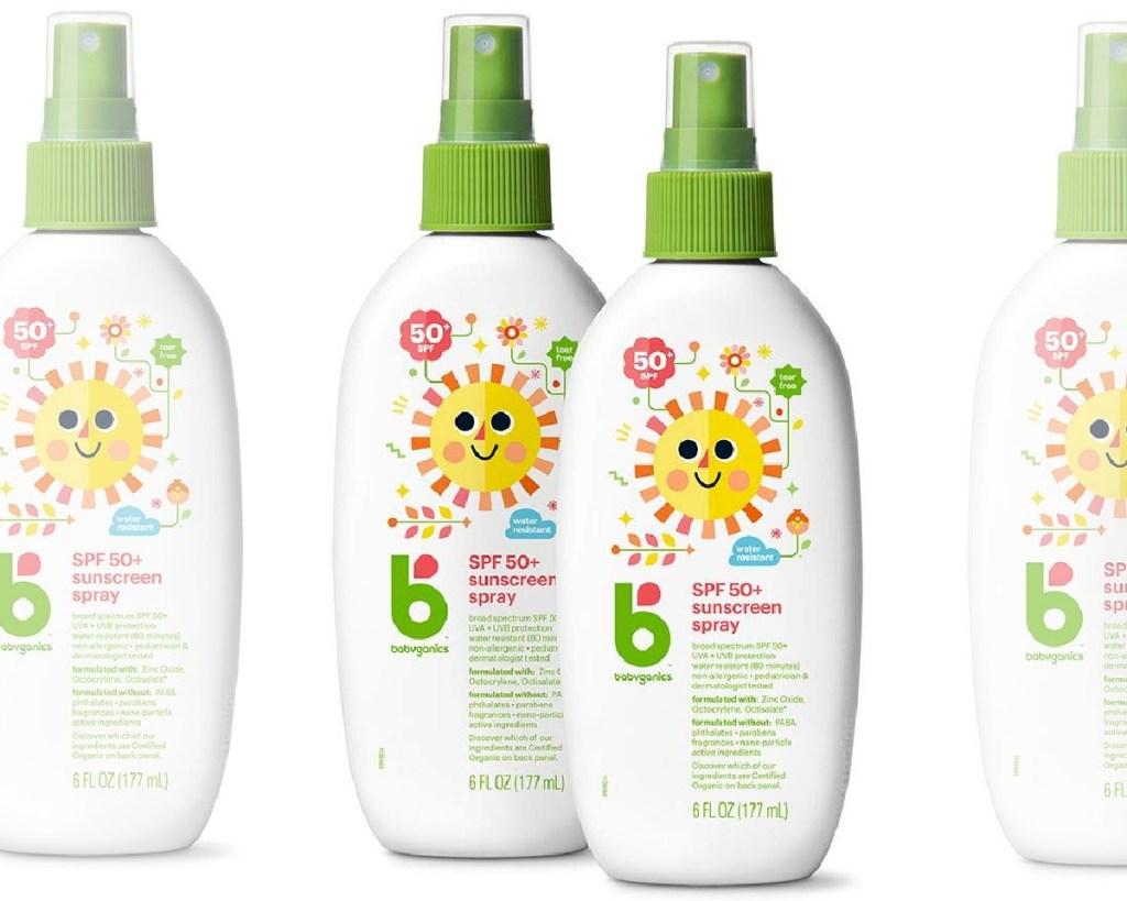 babyganics sunscreen spray 2-pack