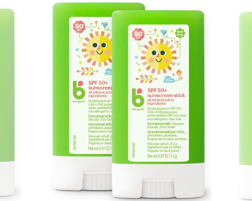 babyganics sunscreen stick 2-pack