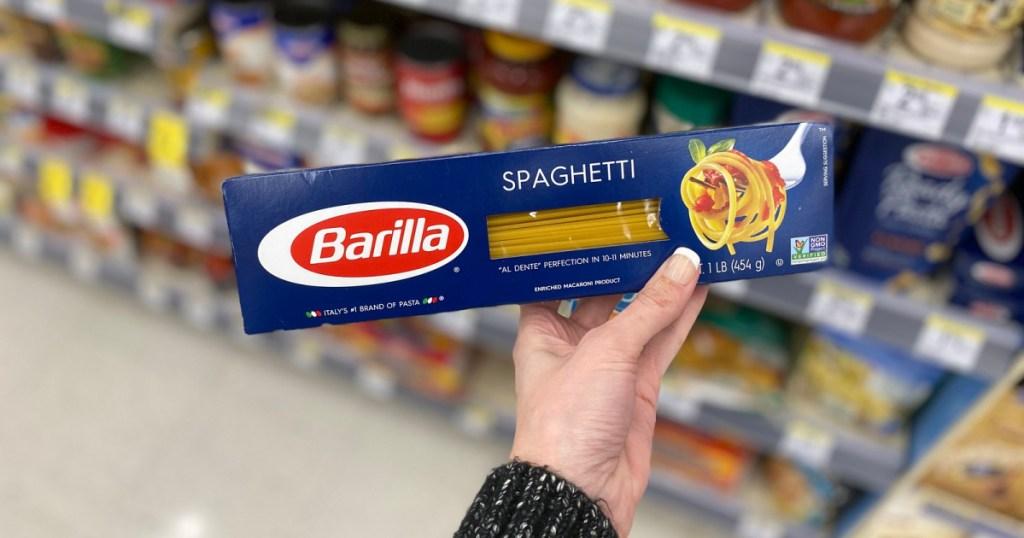 barilla spaghetti in store at walgreens