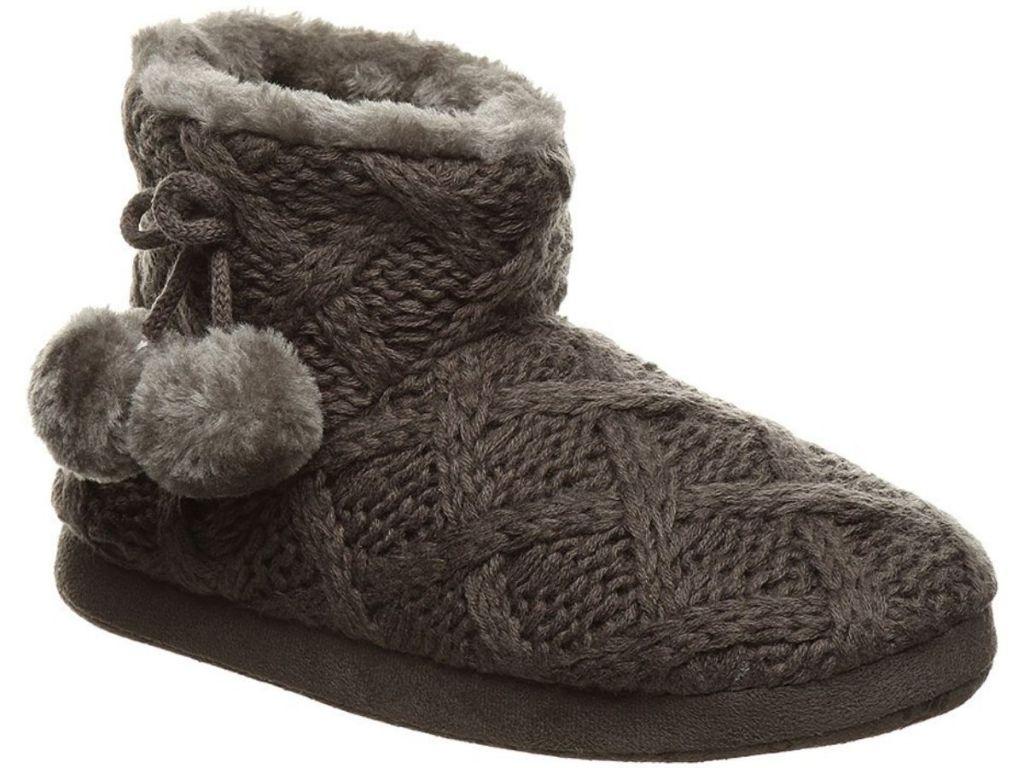 gray slippers