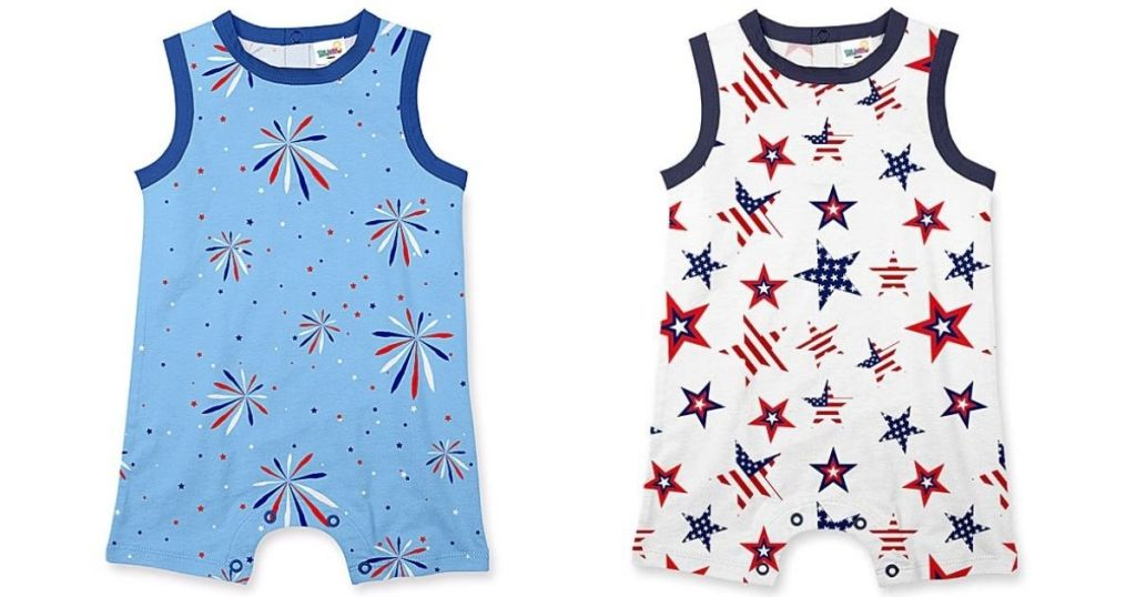 fireworks baby rompers