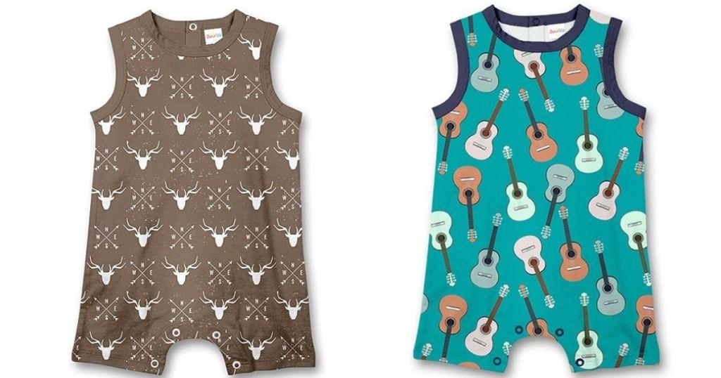 deer and guitar baby romper
