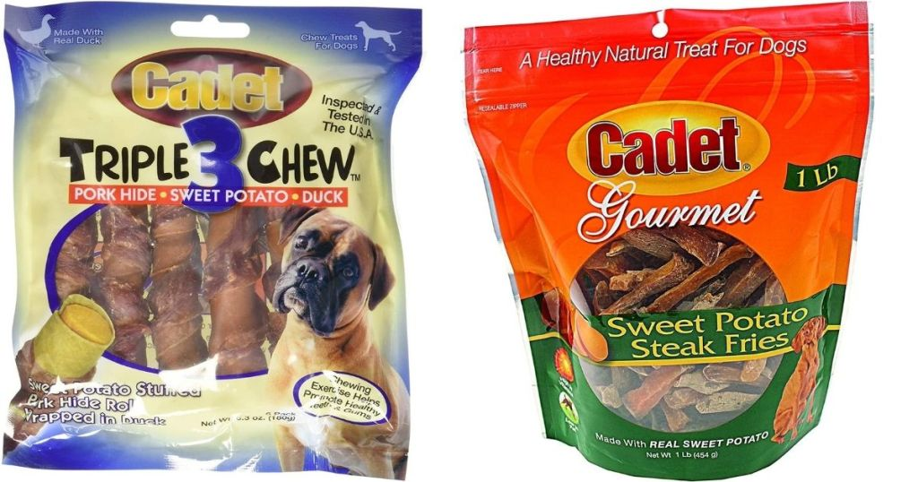 two bags of Cadet dog treats