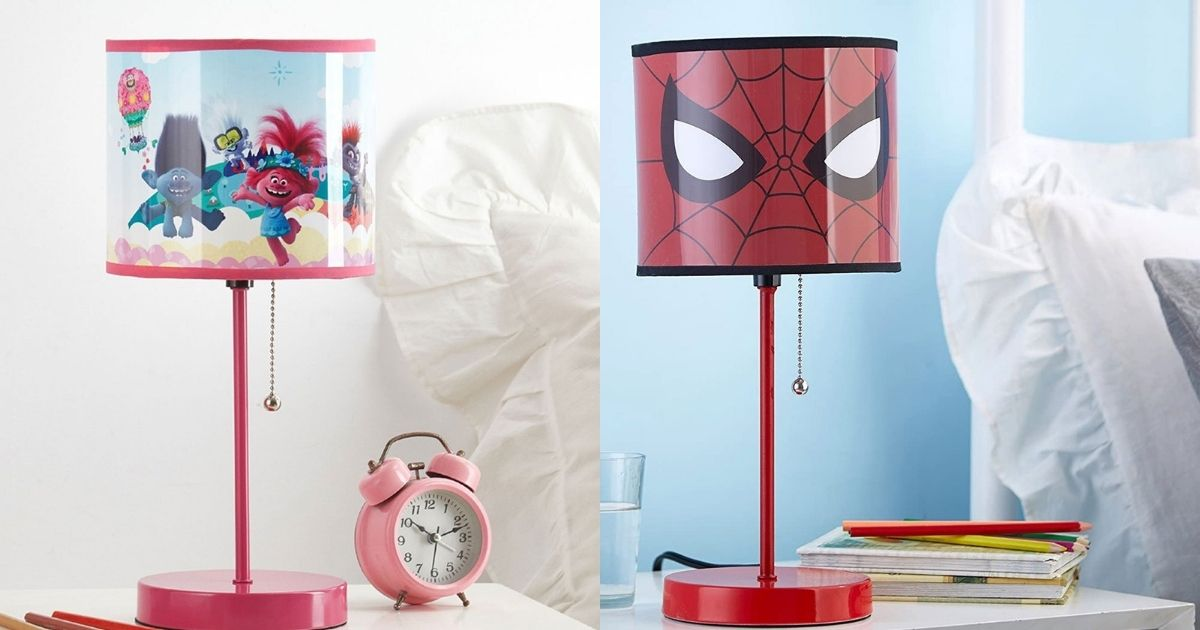 trolls and spiderman lamps