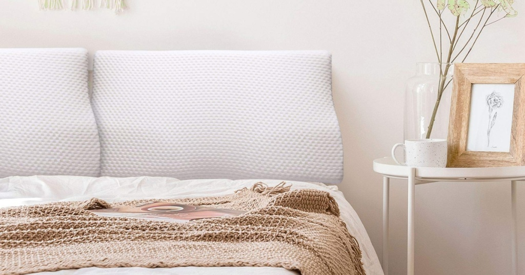 contour pillow on bed