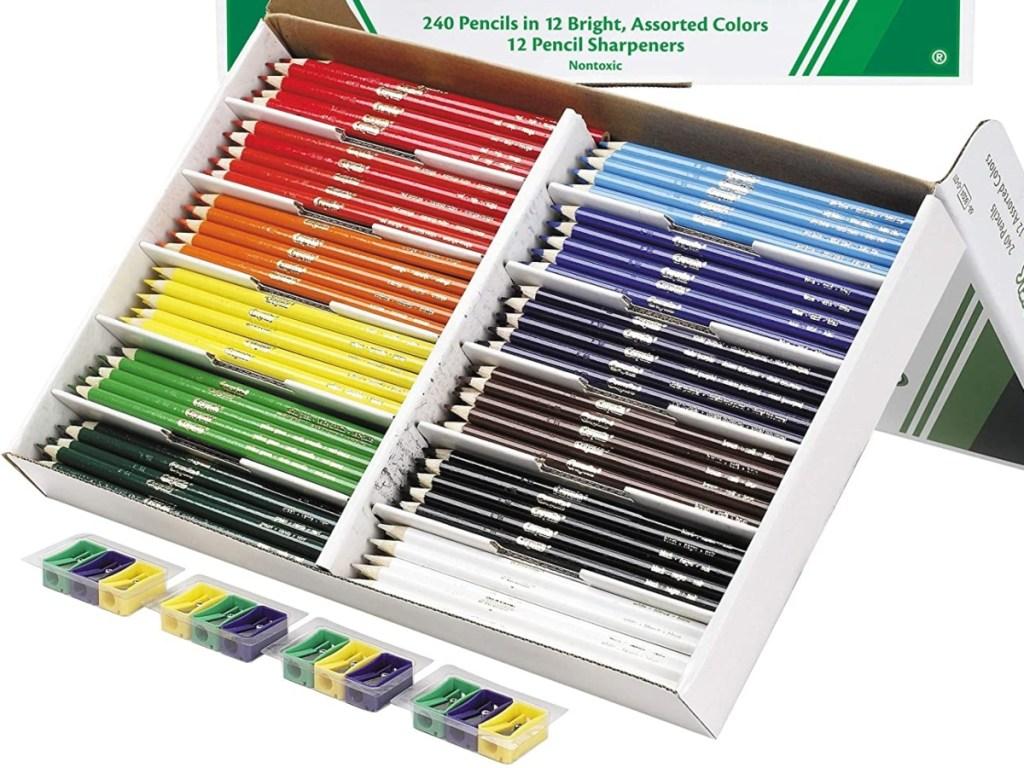 classroom set of colored pencils