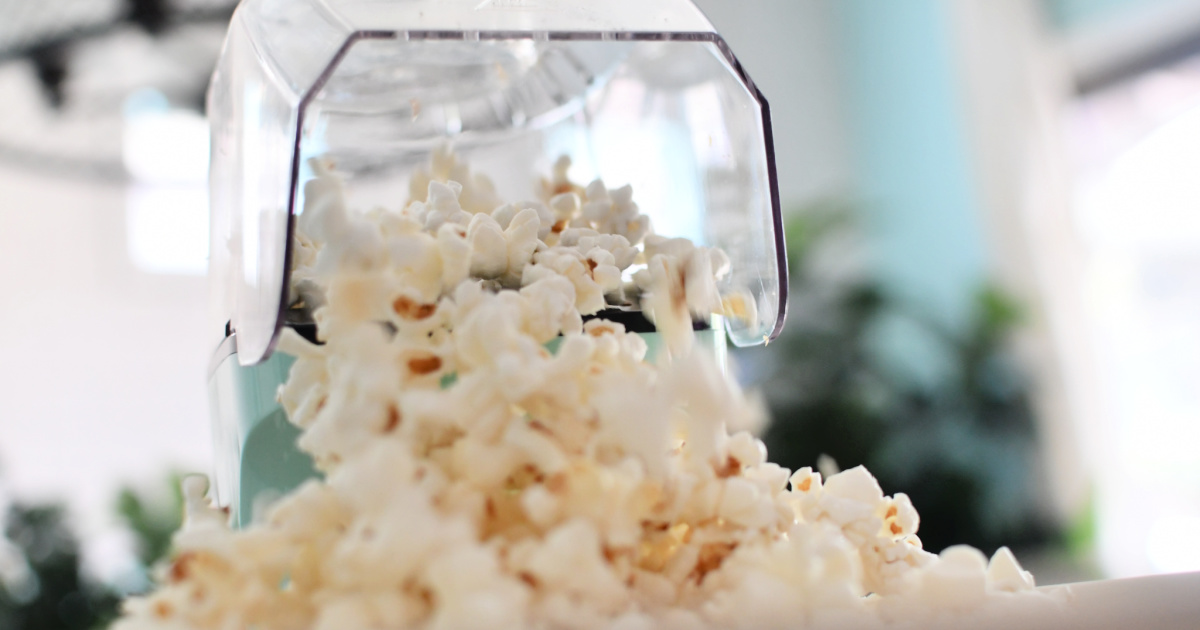 homemade popcorn from dash air popper popcorn maker