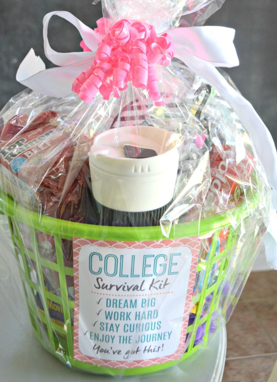 college survival kit gift basket for grads