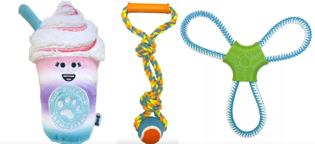 3 dog toys
