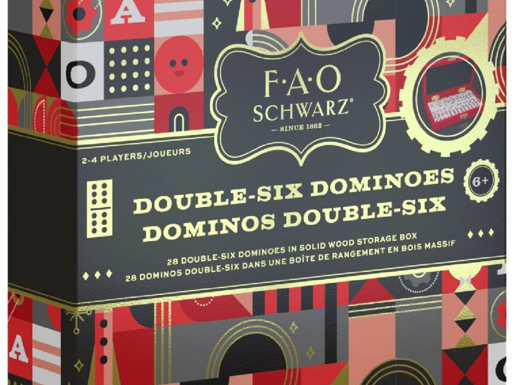 boxed set of dominos in colorful box