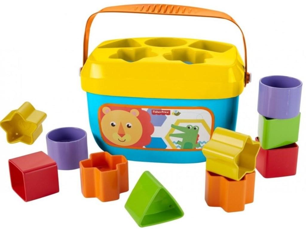 Fisher Price Stacking Blocks set with storage basket