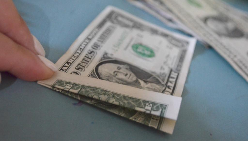 folding a dollar bill