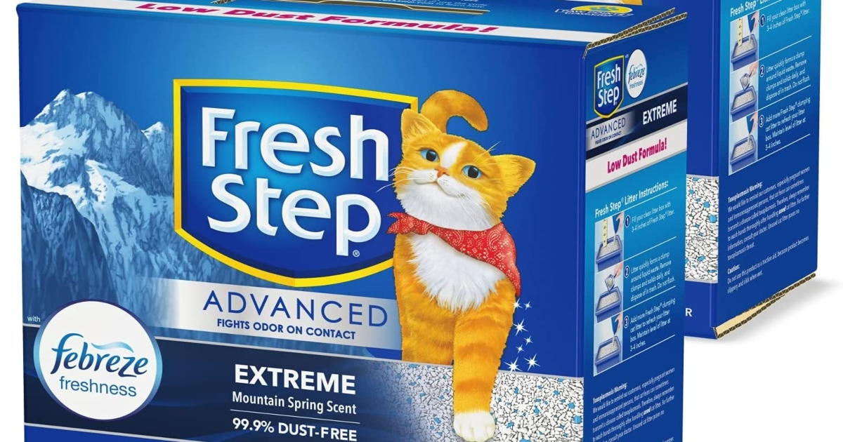 fresh step advanced cat litter, two boxes