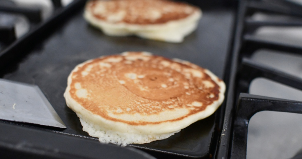 frying from scratch fluffy pancakes