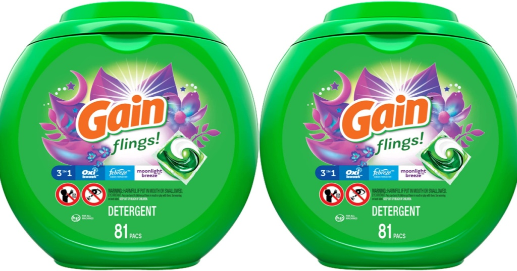 2 containers of gain flings!