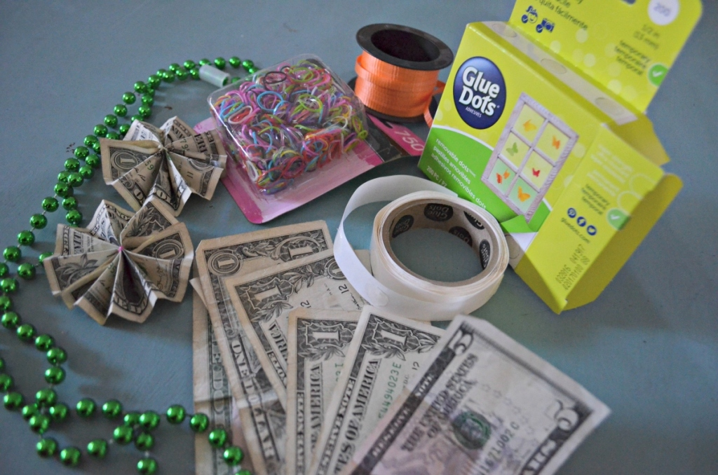 supplies needed to make money graduation lei