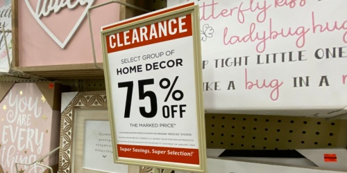 75% Off Select Home Decor at Hobby Lobby