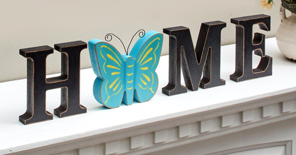 interchangeable sign w/ butterfly